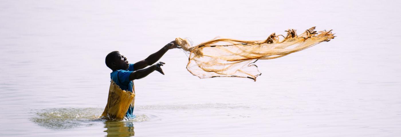 a fisherman in Burkina Faso